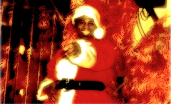 James Brown as Santa